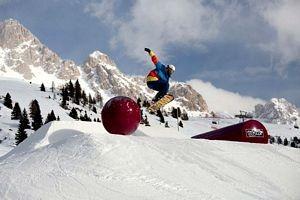 Snowpark al Passo San Pellegrino