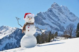Pupazzo di Neve vestito da Babbo Natale