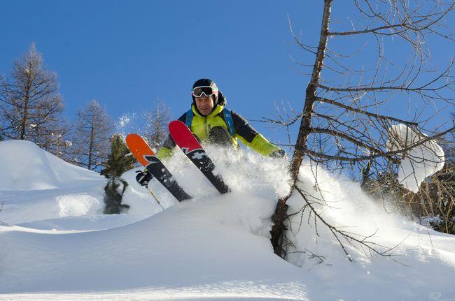 Sciatore freeride a Livigno