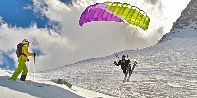 Sciatore sulle piste di Montespluga
